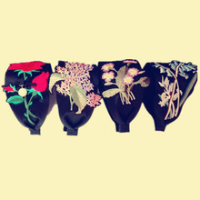 Wholesale fashion embrodiery patch on ribbon hairband hair accessory headband black wide women hairband