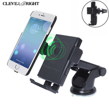 Qi Wireless  Charger Car Charging Dock Phone Chargers For Samsung Galaxy S7 S8 S6  iPhone 6 6P 7 Wireless Car Charger Holder