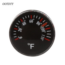 OOTDTY Diameter 20mm Plastic Thermometer Circular Thermograph Fahrenheit Indoor Outdoor(China)
