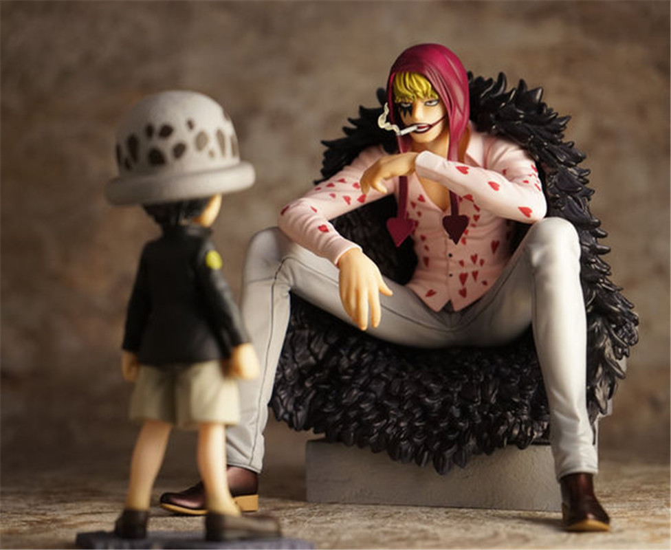 WVW 2pcs/Set Hot Sale Anime One Piece New World Corazon Trafalgar Law Model PVC Toy Action Figure Decoration For Collection Gift<br>