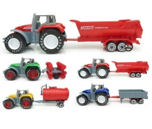 BOHS Children's Toys Farmer Farm Tractor Planting Machine Sprinkler Inertia Model Engineering Car Set(China)