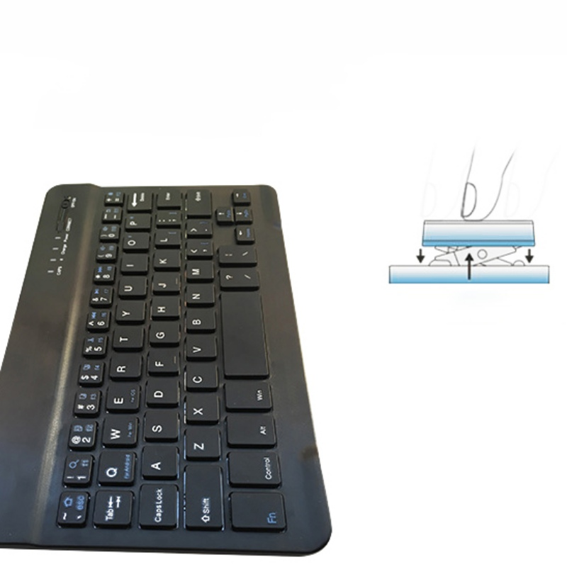 New Ultra Slim Aluminum Bluetooth Keyboard For IOS Android Windows PC Working Time 40 hours 59 keys Quality 8