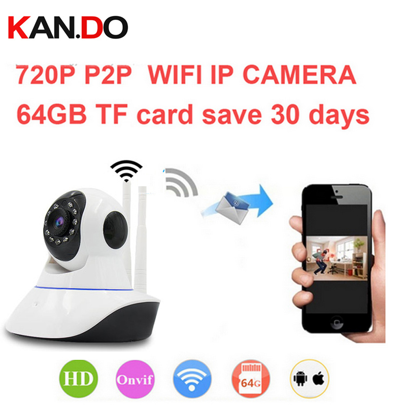 16g can save 10day Onvif DVR easy wifi camera V380 1000 peopel to watch 720P H.380 P2P camera IR cut night vision WiFi IP Camera(China)