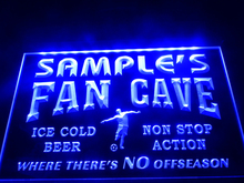 DZ068- Name Personalized Custom Bar Soccer Football Fan Cave Man Beer Neon Sign  hang sign home decor  crafts
