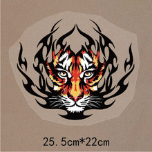 New 10PCS/1Lot  Wholesale Heat Transfer Big Size  Tiger  Iron On Patches  DIY  Clothes T-shirt Brand  Logo Patch Applied