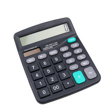 Calculator Solar Battery Light Powered Calculator 12 Digits Office Home Portable Calculator Office worker School Calculator(China)