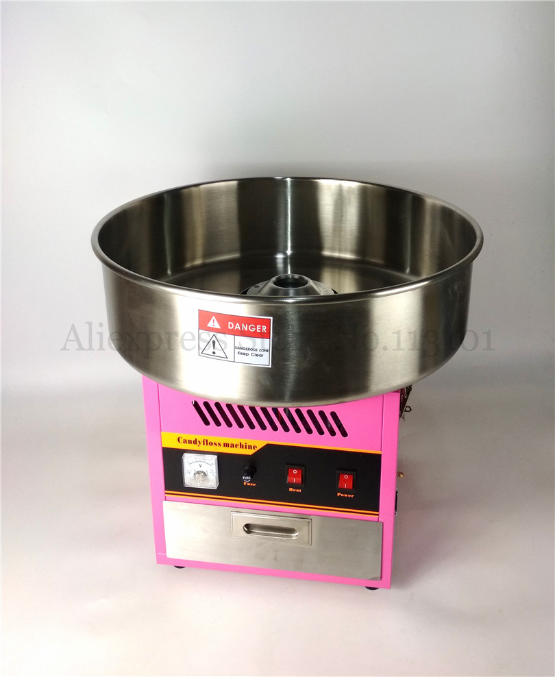 Candy Floss Machine Pink Retro Cotton Candy Maker 1030W Digital Display 52cm