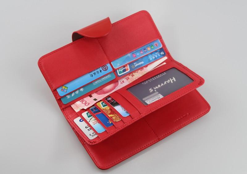 HTB1OtZ1LFXXXXccXpXXq6xXFXXXl - Harrm's Brand Classical Fashion genuine leather women wallets short red blue Color female lady Purse for women with coin pocket