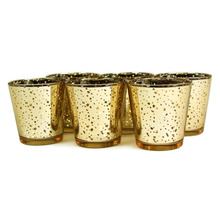 2.55 Inch Tall Glass Mercury Wedding and Party Votive Candle Holder ,Gold  Color,USD33.00 for 12pcs/Each USD2.75