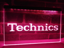 LL149- Technics Turntables DJ Music NEW   LED Neon Light Sign   home decor  crafts