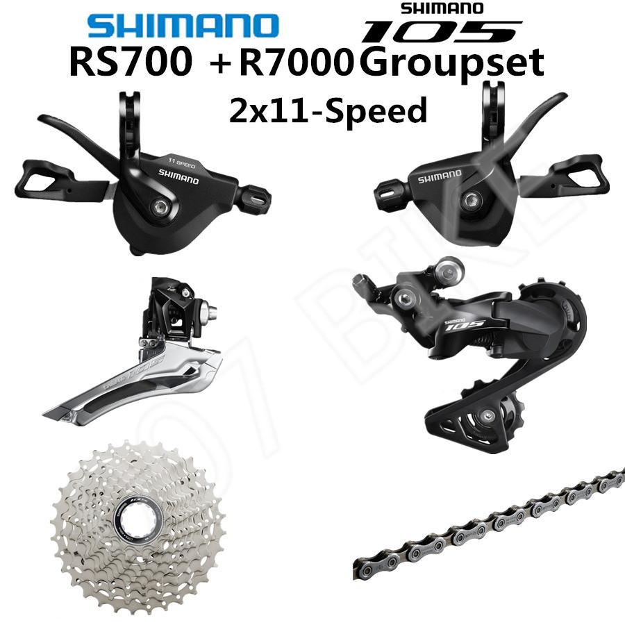 New Shimano 105 5800 SL-RS700 2X11-speed Road Flat Bar Shifters Ultegra R8000