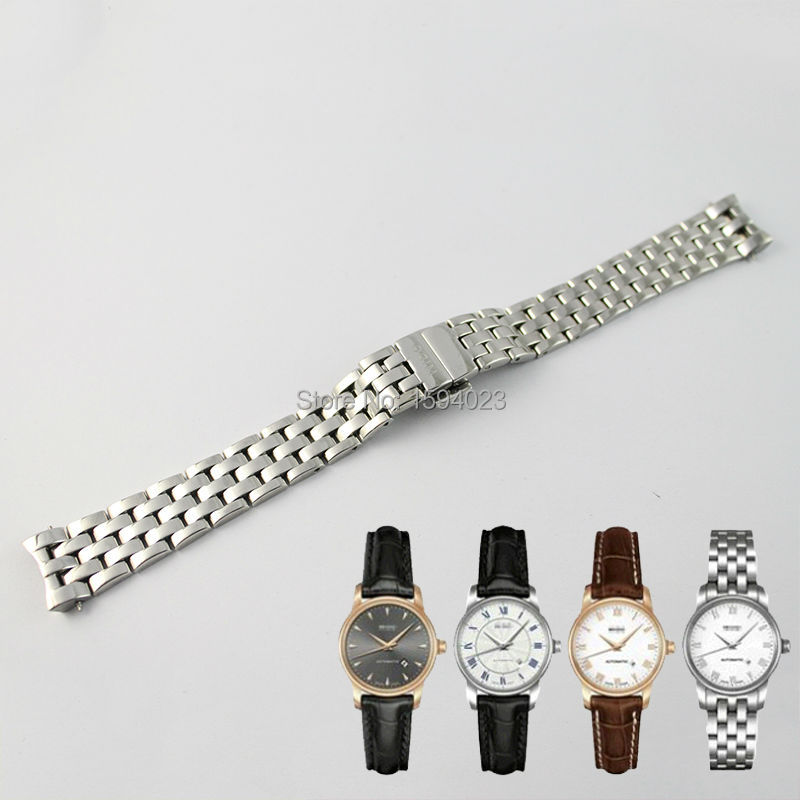 15mm  M7600 Watch Band Watch Strap Solid 316L Stainless Steel Watchbands For MIDO LADY M7600 + FREE TOOLS<br>