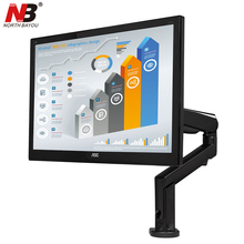 NB F90A Monitor Arm Stand 22-32 inch TV Mount Rotation Lifting LED LCD Display Holder Mechanical Spring Bracket with 2 USB Port