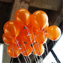 10pcs/lot Orange 10inch Pearl Latex Balloon 21 Colors Inflatable Round Air Balls Wedding Happy Birthday Party Decoration Balloon(China)