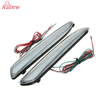 2Pcs 24 LED Rear Bumper Reflector Tail Brake Stop Running Turning Light For Mazda 3 2010-2013