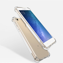 For Xiaomi Mi 5C 5X 5S 6 Plus Max 2 Crystal Clear Air Cushion Shockproof Case for Mi5C Mi5X Mi5S Plus Mi6 Drop Protection Cover