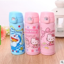 Ladies Thermos Cup Stainless Steel Thermos Mug Drinkware children's Thermo Cup Kitty thermocup Vacuum Fask Cups Insulated Mug(China)
