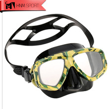 HNMSPORT Professional Camouflage Scuba Diving Mask Myopic Optical Lens Snorkeling Gear Spearfishing Swim Water Mask Mergulho