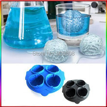 free shipping 220pcs/lot The Brain Shape Mold Freeze Ice Cube Tray Mold Maker Plastic ice box ice mould romantic