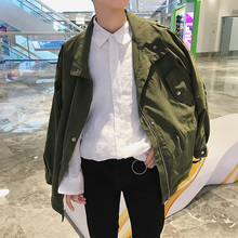 2018 Newest Men's Fashion Outerwear Good Fabric Windbreaker Loose Casual Military Bomber Streetwear Jacket Hip Hop Coats M-2XL(China)