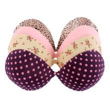 Sexy Lady Silicone Invisible Bra Floral Leopard Strapless Push-Up Backless Bras