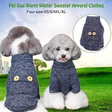HURRISE Cozy Pet Dog Sweater Cute Kitten Puppy Dog Clothes Pet Winter Warm Turtleneck Sweater Clothing Dog Apparel Costume(China)