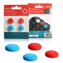 2017 high quality 2pair Anti-slip Silicone Thumb Grips Thumbstick Caps Case Cover for Nintendo Nintend Switch Joy-con Controller