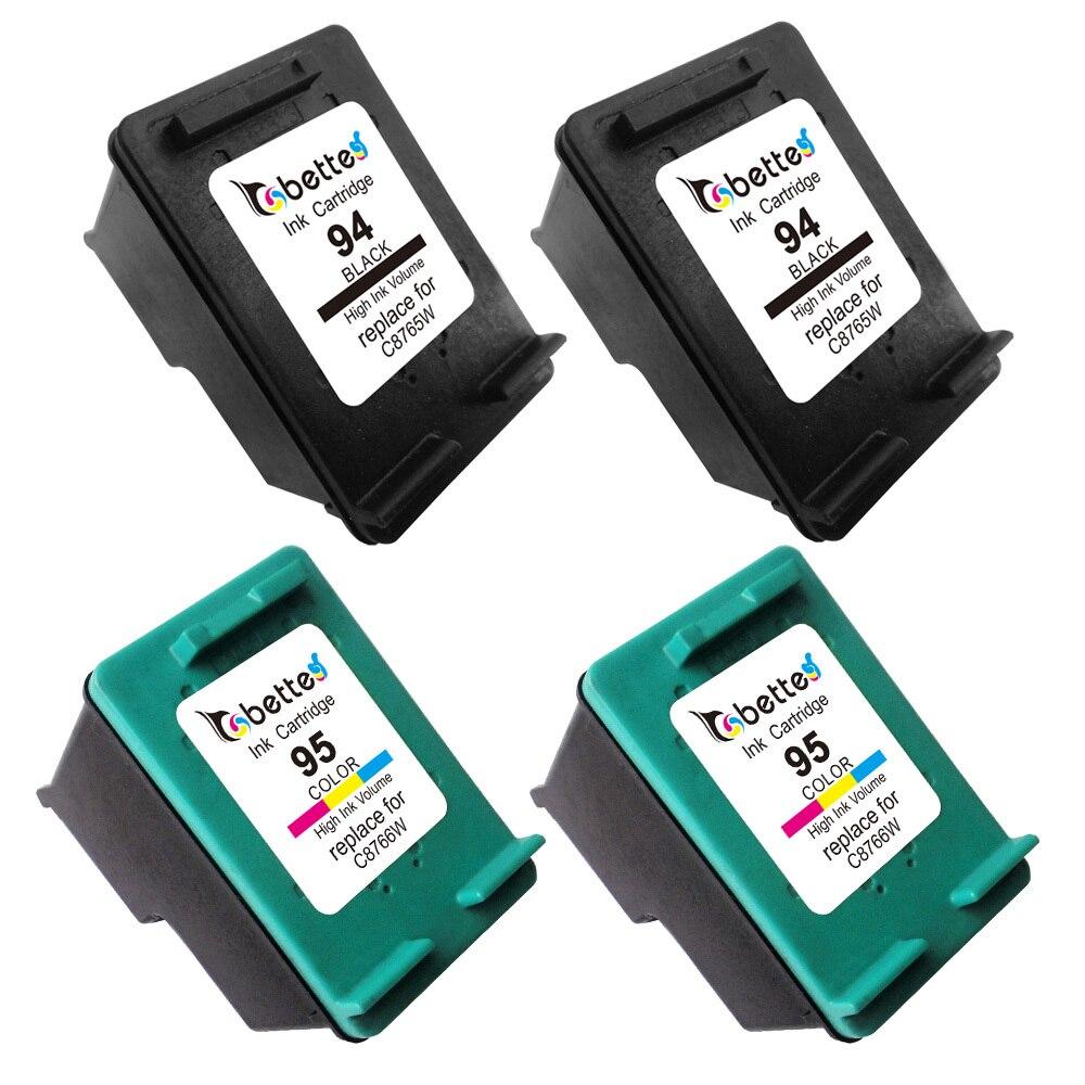 4PK, Ink Cartridges for HP 95 94 hp94 hp95 PSC 1610 1610v 1610xi 2350 2355 2355v 2355xi Officejet K7100 K7103 K7108 H470 100 150<br><br>Aliexpress