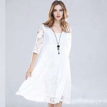 Buy MUXU white lace dress summer vestido elbise vestidos mujer plus size women clothing ladies dresses large sizes loose dress 2018 for $38.06 in AliExpress store