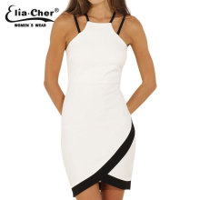 Women Dress 2017 Bodycon Bottoming Dresses Eliacher Brand Plus Size Women Clothing Sexy White Party Sleeveless Dresses vestidos