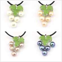 FREE SHIPPING !!! 100% Genuine White Pink Purple Black Natural Freshwater Pearl Grape Charm Pendants -For Jewelry Necklace