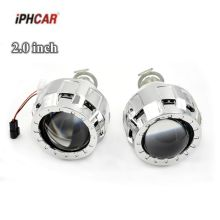 2pcs 2.0 inch car Bi xenon Bixenon Projector lens with shrouds mask H1 H4 H7 hid xenon kit headlight(China)