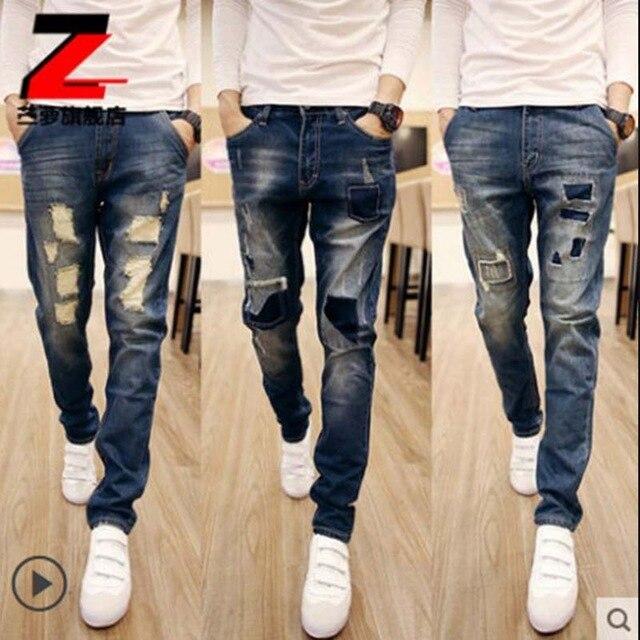 Мужские джинсы с дырками своим руками