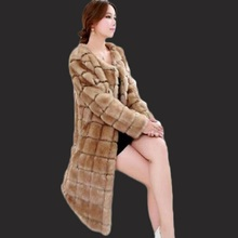 New fashionable artificial fur coat 2017 high quality long imitation leather coat mink coat wind leather coat artificial fur