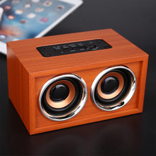 Buy Hand-built audiophile grade MDF wood Speaker Hi-fi Wireless Bluetooth Stereo Speaker Wooden Mini Speaker Support TF Card AUX for $19.95 in AliExpress store