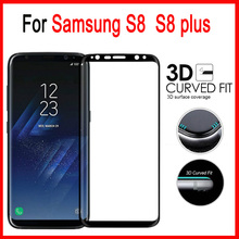 3D Full Cover Premium Screen Protector For Samsung Galaxy S8 plus Tempered Glass On Samsung S 8 plus Cover Protective Film Case
