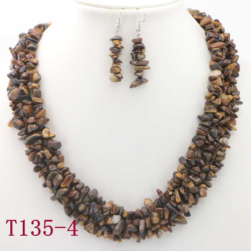 4 Natural Tiger eye stone bead Necklace for girls silver necklace chain gemstone jewelry wholesale necklaces pretty necklaces (14)