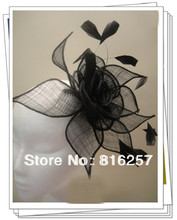 Sinamy DIY Flower fascinator sposa wedding women hats headbands on hair combs with feather hair fascinator accessories FS49(China)