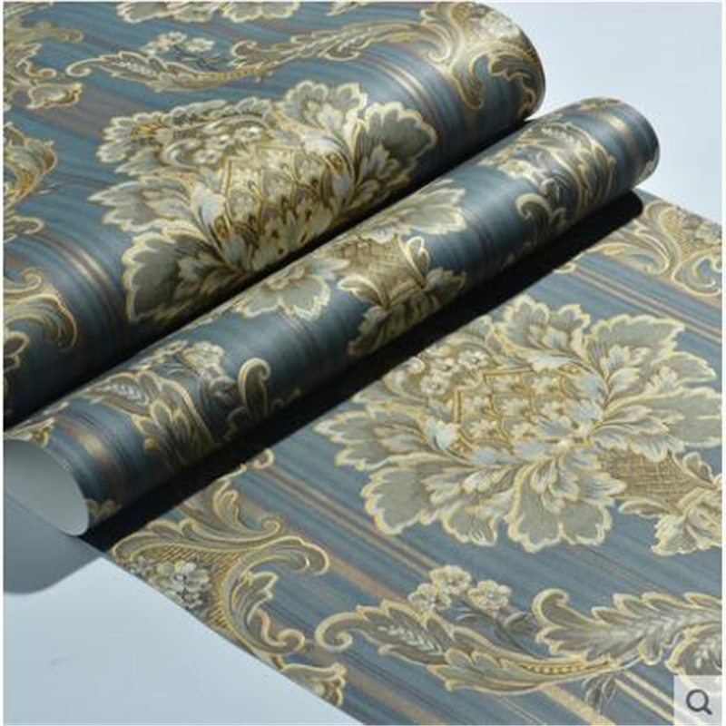 beibehang 3d stereo living room TV background wall paper non woven fabric Continental Damascus ab edition bedroom wallpaper<br>