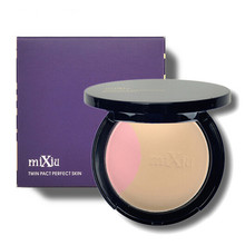 Professional Face Makeup Twin Pact Perfect Skin Pressed Powder Concealer Beauty Cosmetic Brand MiXiu