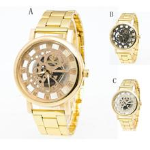 Men's gold watches Fashion And Casual Luxury Boys Stainless Steel Pointer Quartz Wrist Watch Reloj para los hombres