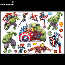 SHNAPIGN Hulk man Children Cartoon Temporary Tattoos Sticker Fashion Summer Style Elsa Waterproof Girls Kids Boys Hot