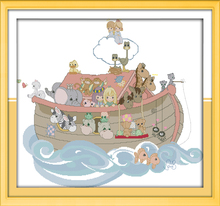 Big Size Painting Noah's ark Needlework kits DIY 11CT&14CT embroidery cross-stitching Innovation items unique gift Cross Stitch