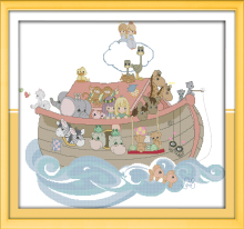Big Size Painting Noah's ark Needlework kits DIY 11CT&14CT embroidery cross-stitching Innovation items unique gift Cross Stitch(China)