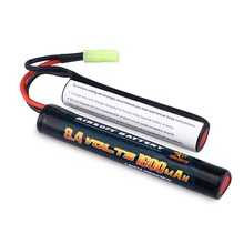 Melasta 8.4V 1600mAh Butterfly Replaces NIMH Battery Pack for H VFC HK416 CQB Rifle with Mini Tamiya Connector