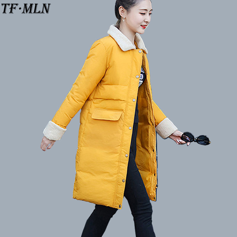 TFMLN 2017 New Winter Long Jacket Women Down Cotton Jacket Padded Outwear Warm Cashmere Parka Autumn Fashion Womens ClothingÎäåæäà è àêñåññóàðû<br><br>