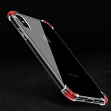 Fashion Brand Original Shockproof 360 Degree Cover for iPhone X Case 5 5s SE 6s 6 7 8 Plus Case Silicone for iPhone 7 Case Clear(China)