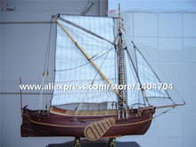 NIDALE Model Classical wooden sail boat model assembled scale 1/50 Holland Yacht 1670 sail boat wooden Model kits