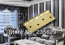 Free Shipping, 4 inches Ball bearing hinge, Low Noise Hinges,Pure Copper  Hinges for timber Door, Easy Installation, 4'' hinges