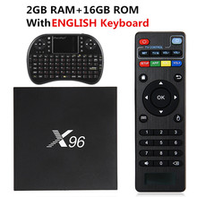 New X96 TV Box 2GB 16GB Android 7.1 Smart TV Box Amlogic S905X Quad Core Marshmallow WIFI HDMI 2.0 4K*2K 1080 PK X92 Set top Box(China)